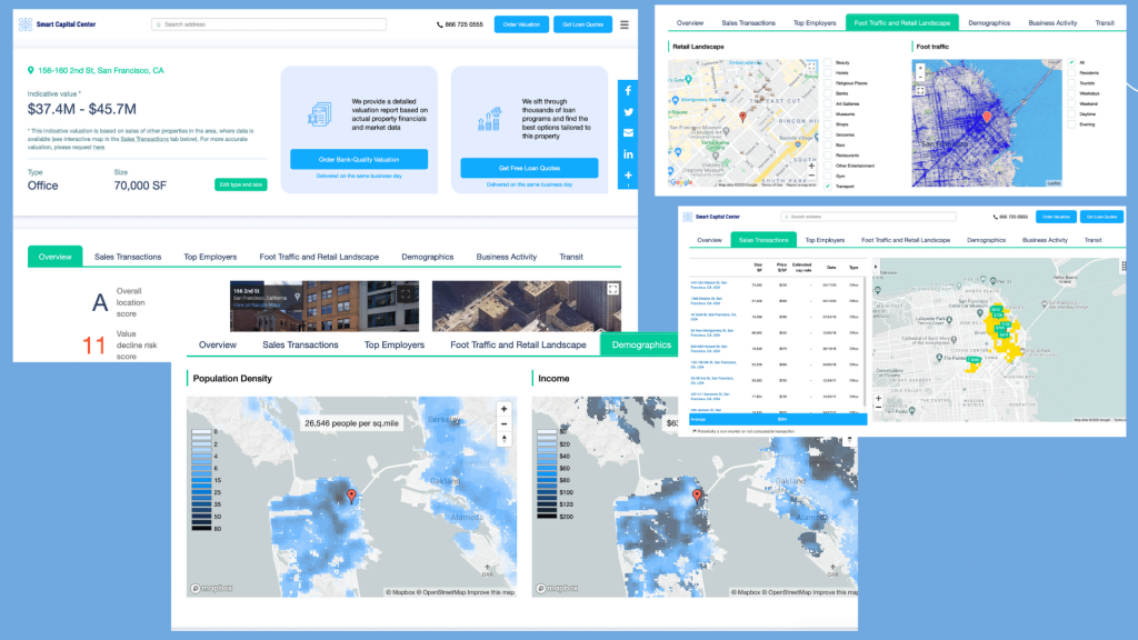 Smart Capital Center Demo Screenshots